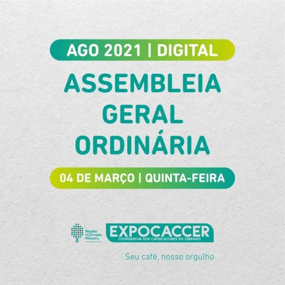 Expocaccer realizará Assembléia Geral Ordinária Digital