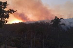 Incêndio de grandes proporções destrói a região da Serra Negra