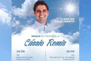Celebrações marcam um ano de falecimento do ex-vereador Cássio Remis