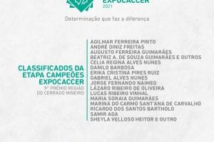 Divulgada a lista dos finalistas da Etapa Campeões Expocaccer