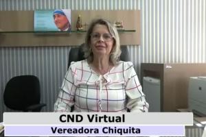 Vereadora Chiquita comemora aprovação de projeto que dará acesso...